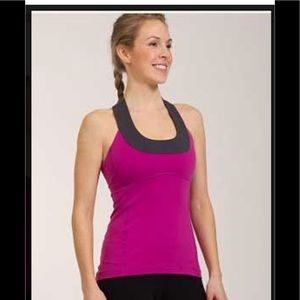 NWT Lululemon Scoop Neck Tank in Violaceous / Coal